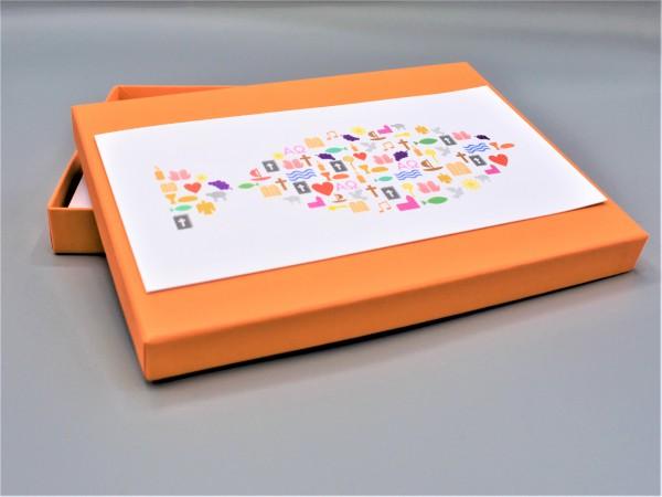 """10 besondere Grußkarten in der artoz Pure Box A5 in mandarin """"Begleiter durch das Jahr 2"""""""