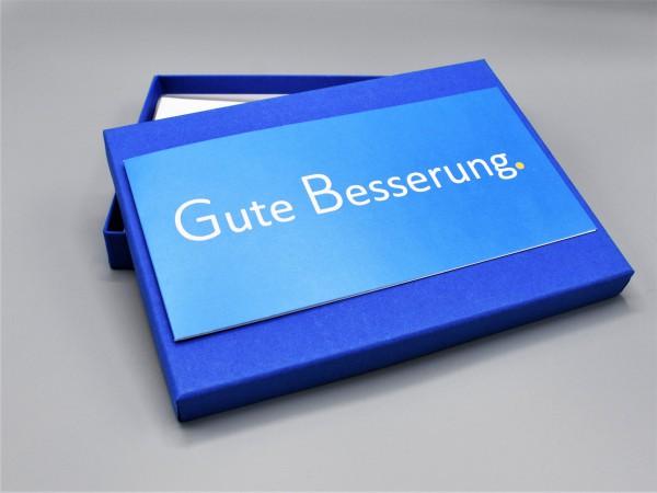 """10 exklusive Grußkarten in der artoz Pure Box A5 in royalblau """"majestetic blue"""" """"Begleiter durch das"""