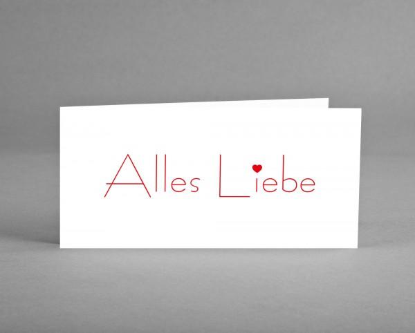 """VON HERZEN: Wünschekarte zum Valentinstag oder Mutter-/Vatertag oder zum Geburtstag """"Alles Liebe"""""""