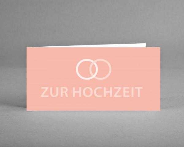 """KLASSISCH ZART IN ROSÉ: Glückwunsch- oder Einladungskarte """"Zur Hochzeit"""" inkl. Kuvert"""