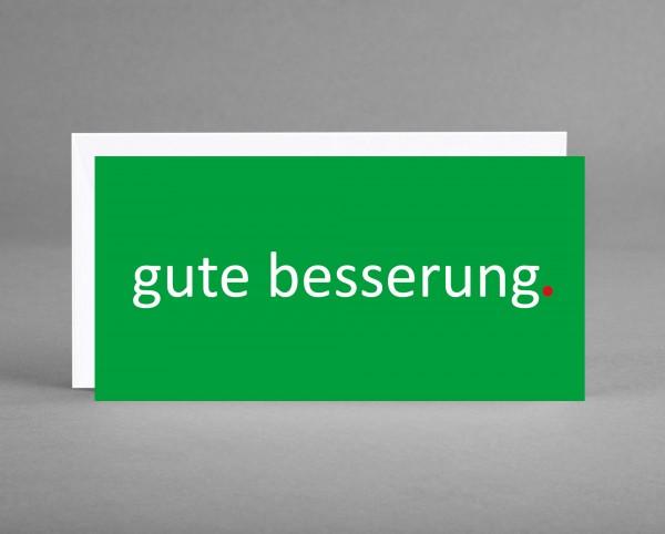 """HOFFNUNGSVOLL: Grußkarte """"gute besserung"""" in grün inkl. Kuvert"""