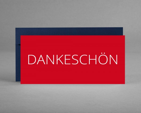 FIRMENGRUSSKARTE MIT LOGO: 25 Dankeschön-Karten vollflächig bedruckt mit Logo inkl. Kuverts