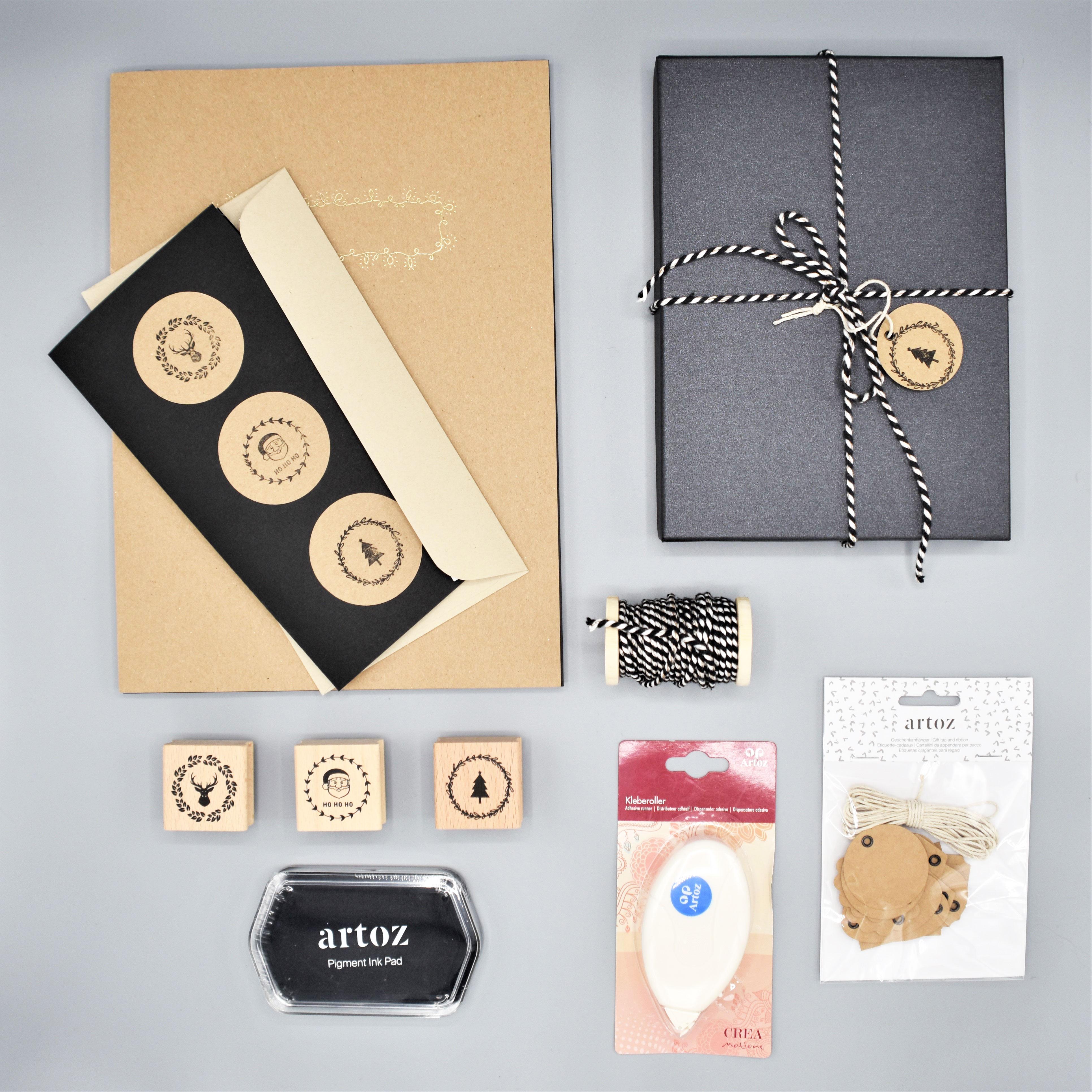 1_black-grocer-kraft_Weihnachtskarten-selber-gestalten_schwarz_grocer-kraft_kraftpapier_stempel_geschenkverpackungen-verzieren_handmade_selfmade_artoz_diy_grusskartenUa9I5ZF77tWES