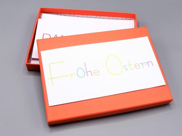 """10 edle Grußkarten in der artoz Pure Box in coralle """"Begleiter durch das Jahr 1"""""""