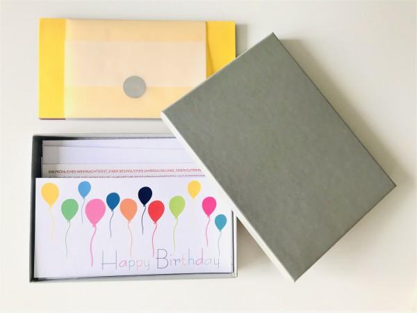 Kartenbox olive: 10 besondere Grußkarten in der edlen artoz Pure Box A5 in olive glow