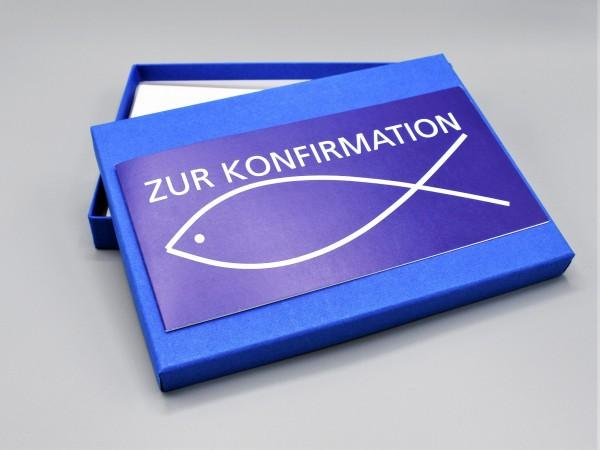"""10 kreative Grußkarten in der artoz pure Box A5 in royalblau """"Begleiter durch das Jahr 1"""""""