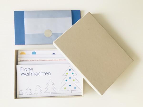 Kartenbox desert: 10 besondere Grußkarten in der edlen artoz Pure Box A5 in desert
