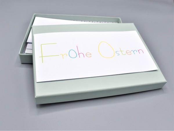 """10 exklusive Grußkarten in der artoz Pure Box A5 in mint """"Begleiter durch das Jahr 3"""""""