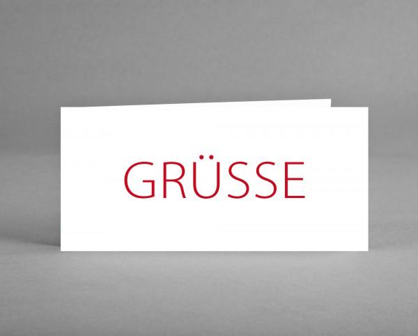 "NEUTRAL: Grußkarte ""Grüsse"" inkl. Kuvert"
