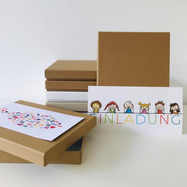 In grocer kraft: Stabile Schachtel mit Deckel als Geschenkbox oder Fotobox - original artoz PURE Box
