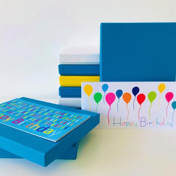 In petrol: Stabile Schachtel mit Deckel als Geschenkbox oder Fotobox - Original PURE Box A5