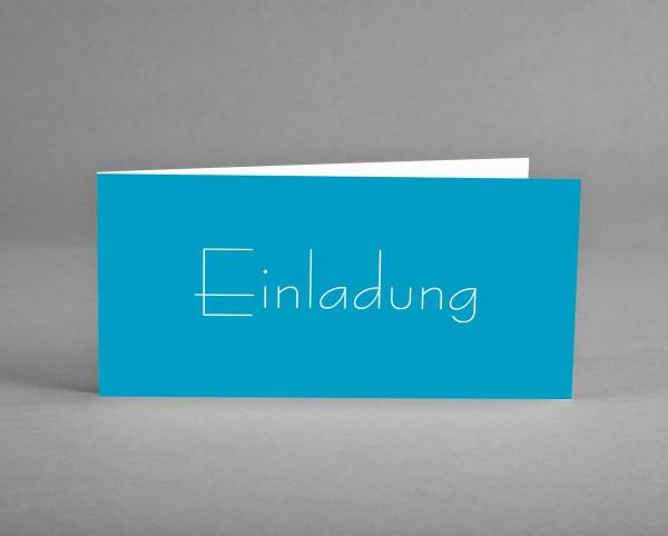 10 INDIVIDUALISIERBARE Einladungskarten blau zum Geburtstag inkl. Kuverts