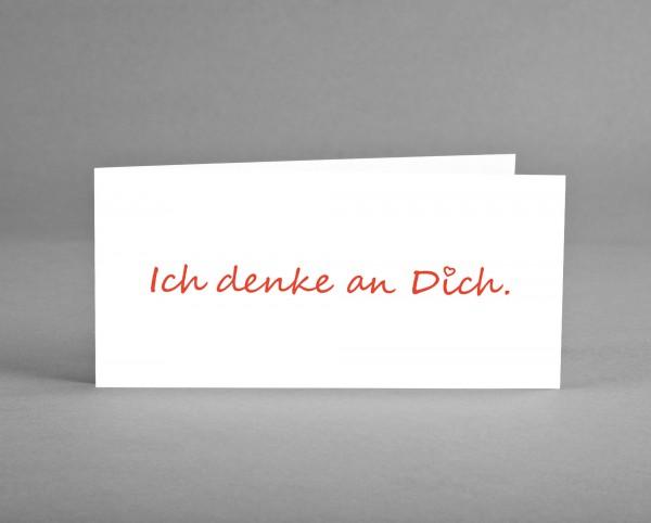 """BESONDERS HERZLICH: Grüßekarte """"Ich denke an Dich."""" inkl. Kuvert und Versand"""