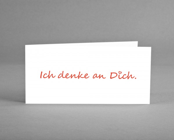 "BESONDERS HERZLICH: Grüßekarte ""Ich denke an Dich."" inkl. Kuvert"
