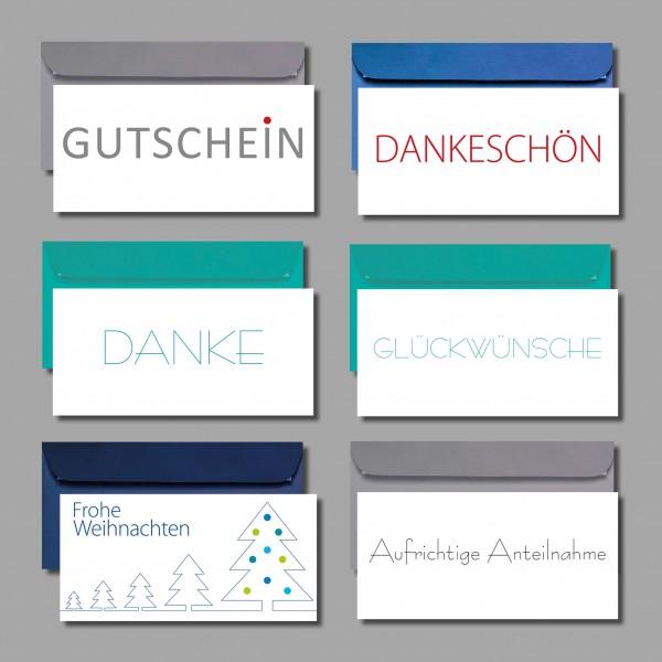 REDUZIERT & ZEITLOS: Kartenset inkl. Kuverts (6 Stück)