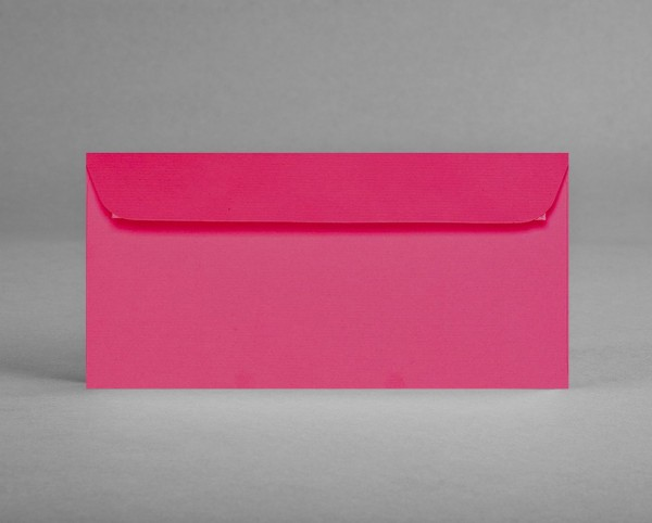 5 original Artoz Kuverts in fuchsia/pink, C6, DIN lang, ohne Sichtfenster (Set)