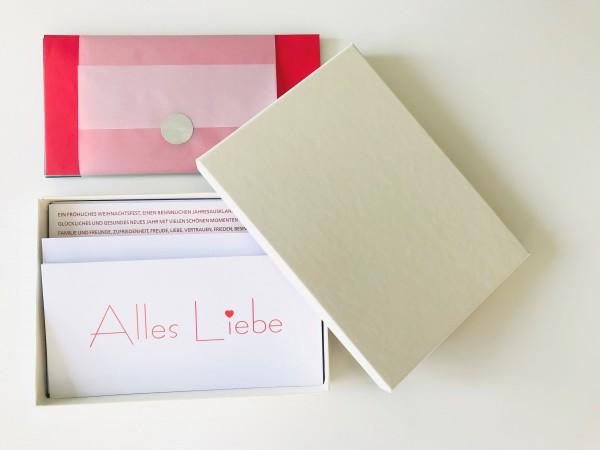 Kartenbox elfenbein: 10 besondere Grußkarten in der edlen artoz Pure Box A5 in ivory