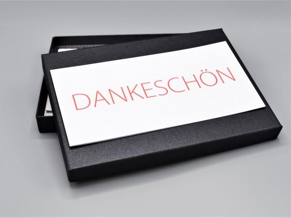 """10 besondere Grußkarten in der artoz Pure Box A5 in black glow """"Begleiter durch das Jahr 2"""""""