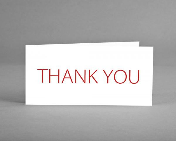 """INTERNATIONAL: Dankeschön-Karte """"Thank You"""" weiß inkl. Kuvert"""