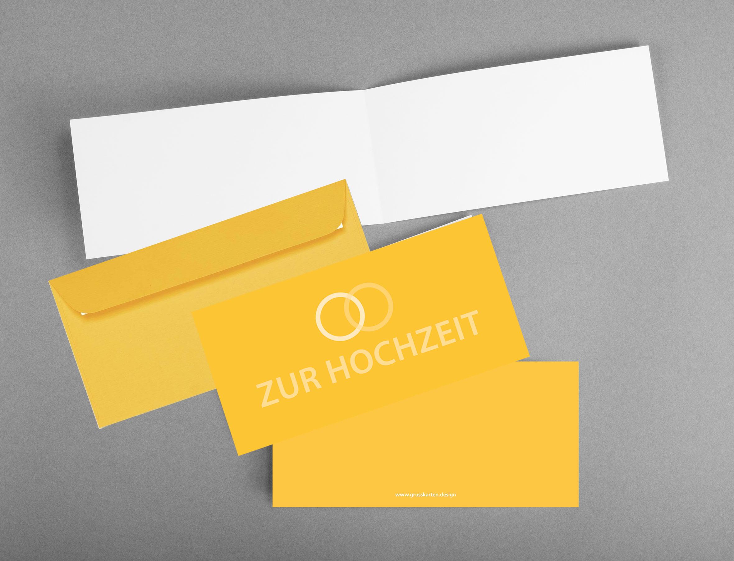 Einladungskarte_Gl-ckwunschkarte_zur-Hochzeit_Ringe_gleich-gross_grusskarten-design_innen-und-aussen-mit-gelbem-artoz-kuvertUUNC595MFve4F