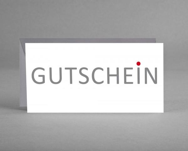 FIRMENGRUSSKARTE MIT LOGO: 25 Gutschein-Karten mit Logo inkl. Kuverts