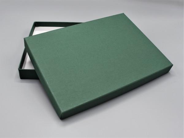 In dunkelgrün: Stabile Schachtel mit Deckel als Geschenkbox o. Fotobox - Original artoz PURE Box A5