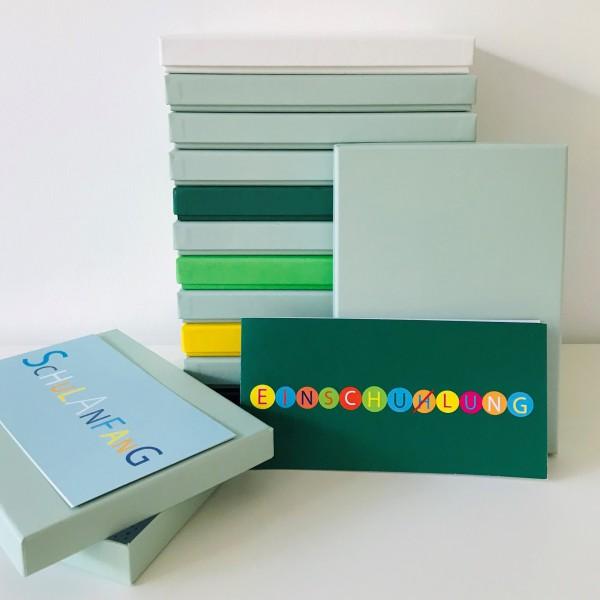 In mint: Stabile Schachtel mit Deckel als Geschenkbox oder Fotobox - original artoz PURE Box A5