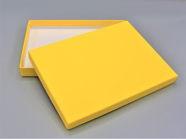 In sonnengelb: Stabile Schachtel mit Deckel als Geschenkbox o. Fotobox - original artoz PURE Box A5