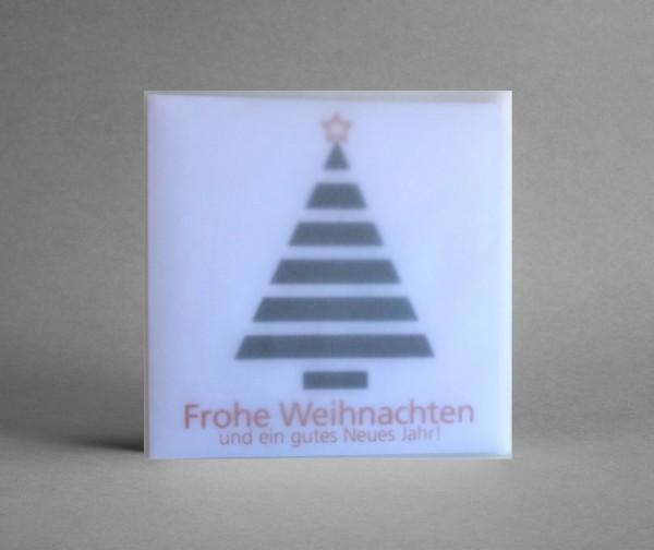 """AUSDRUCKSSTARK IN WEISS: Weihnachtskarte """"Weihnachtsbaum schwarz-weiß"""" inkl. Kuvert"""