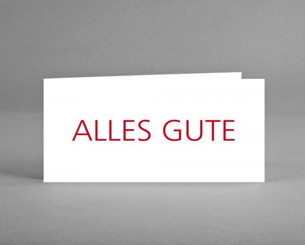 """SCHLICHT: Grußkarte """"Alles Gute"""" inkl. Kuvert"""