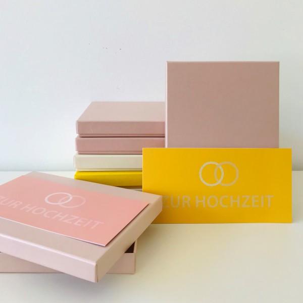 In rose glow: Stabile Schachtel mit Deckel als Geschenkbox oder Fotobox - original artoz PURE Box A5
