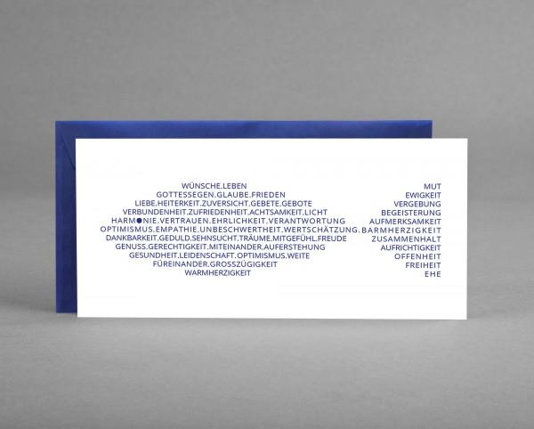 WÜNSCHE IN BLAU ALS FISCH: Glückwunsch-, Gutschein- oder Einladungskarte z.B. für Taufe, Konfirmatio