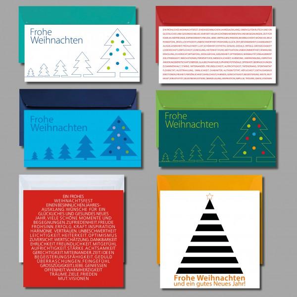 """ES WEIHNACHTET SEHR: Kartenset """"Weihnachtskarten"""" inkl. Kuverts (6 Stück)"""