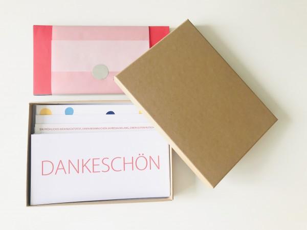 Kartenbox kraftpapier: 10 besondere Grußkarten in der edlen artoz Pure Box A5 in grocer kraft