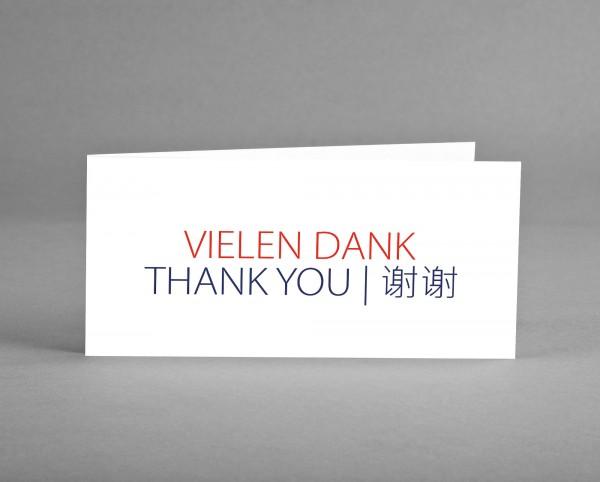 "INTERNATIONAL: Danke-Karte ""Vielen Dank"" 3-sprachig inkl. Kuvert"
