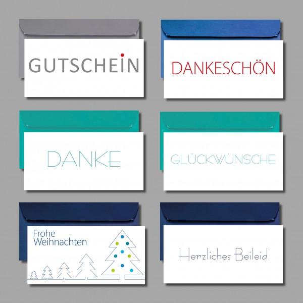 ELEGANT & ZEITLOS: Kartenset inkl. Kuverts (6 Stück)