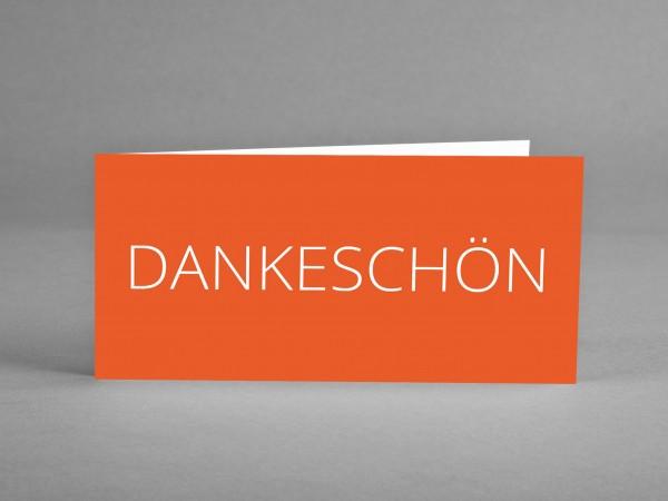 BESONDERS: Dankeschön-Karte in orange inkl. Kuvert