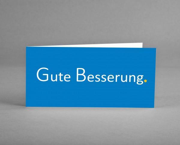 """POSITIV: Grußkarte """"Gute Besserung"""" in blau inkl. Kuvert und Versand"""