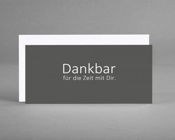 """WIRKUNGSVOLL: Trauerkarte """"Dankbar für die Zeit mit Dir."""" grau inkl. Kuvert"""
