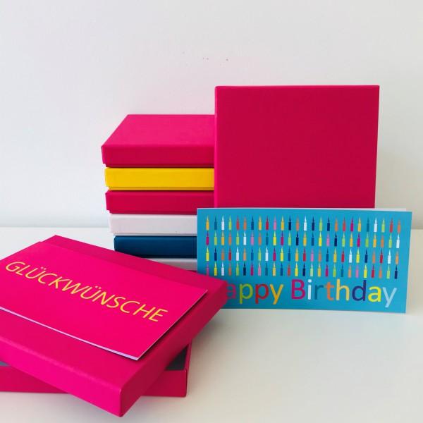 In fuchsia: Stabile Schachtel mit Deckel als Geschenkbox o. Fotobox - original artoz PURE Box A5