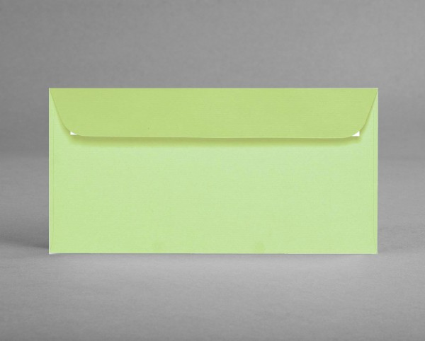 5 original Artoz Kuverts in birkengrün, C6, DIN lang, ohne Sichtfenster (Set)