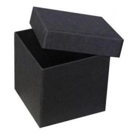 IN SCHWARZ: PURE BOX M mit Deckel im Format 106x106x105 mm von artoz