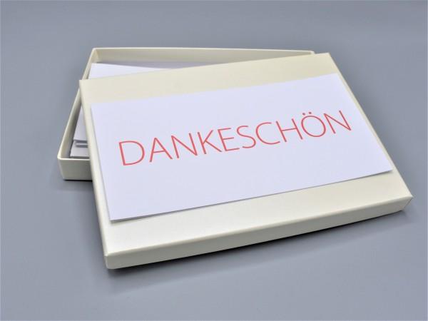 """Kartenbox: 10 schöne Grußkarten in der artoz Pure Box A5 in elfenbein """"ivory"""""""