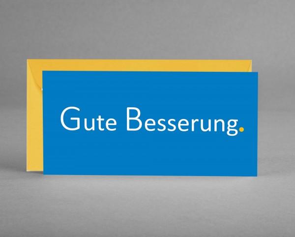 "POSITIV: Grußkarte ""Gute Besserung"" in blau inkl. Kuvert"