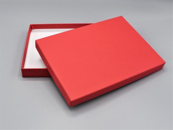 In rot: Stabile Schachtel mit Deckel als Geschenkbox oder Fotobox - original artoz PURE Box A5