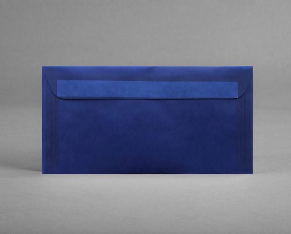 In BLAU-TRANSPARENT: 5 original Artoz Kuverts DIN lang, ohne Sichtfenster (Set)