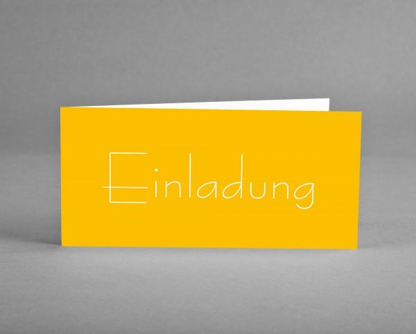 10 INDIVIDUALISIERBARE Einladungskarten gelb mit Sreichhölzern zum 45. Geburtstag inkl. Kuverts und