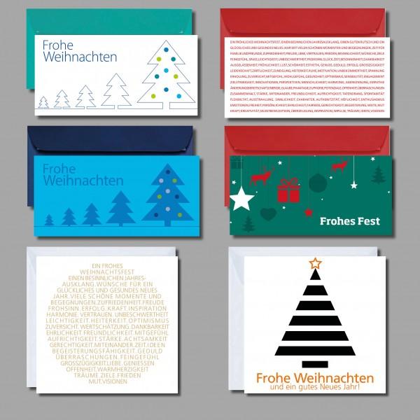 """ES WEIHNACHTET SEHR II: Kartenset """"Weihnachtskarten"""" inkl. Kuverts (6 Stück)"""