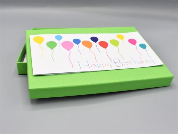 """10 kreative Grußkarten in der edlen artoz Pure Box A5 in hellgrün als """"Begleiter durch das Jahr 3"""""""