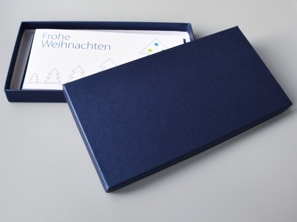 NEU!!! GESCHENK KARTENBOX IN SAPHIR: 10 besondere Grußkarten inkl. 10 Kuverts in der edlen artoz PUR
